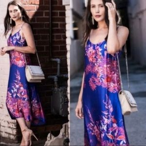 NWT Banana republic floral midi slip dress